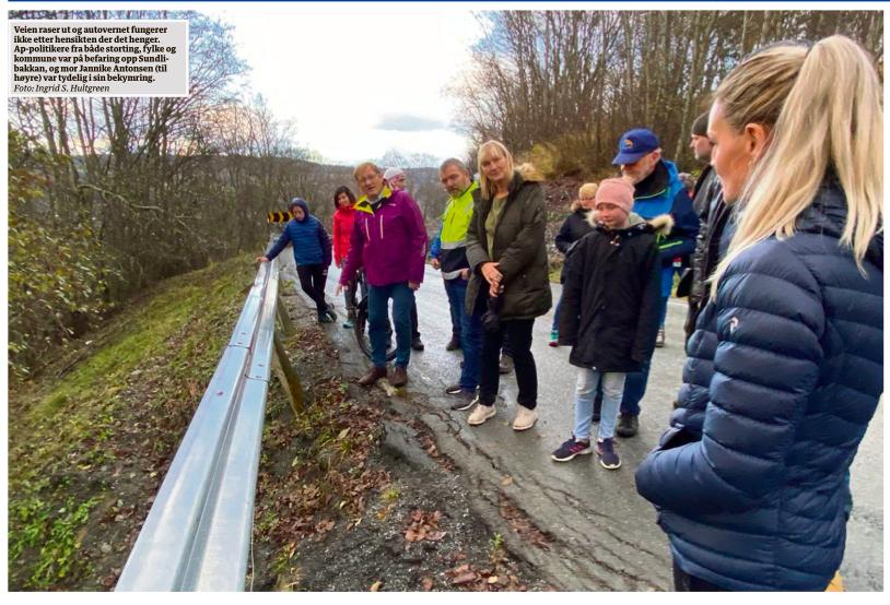 En av de dårligeste veiene jeg har sett, sier Leirtrø (AP). Foto: Faksimile avisa Sør-Trøndelag.