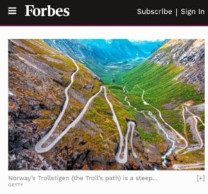 Faksimilie: Forbes 5 Awesome Road Trips In Scandinavia And The Nordics