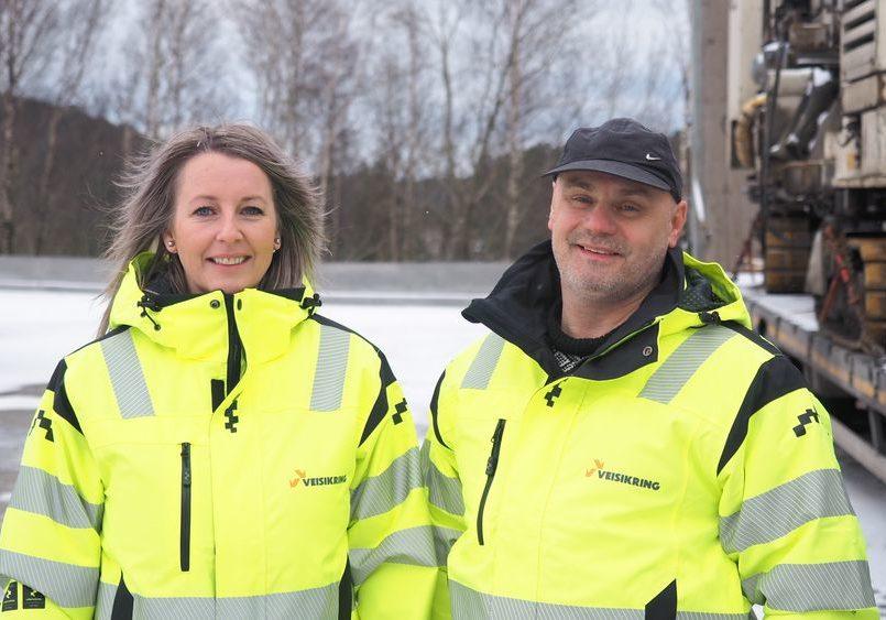 Veisikring avd Profilbetong Eva Kvalvik og Bengt Hangeland.1000x563